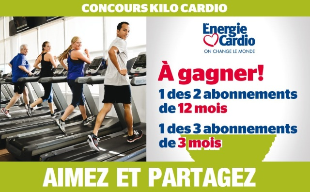 Concours KILO CARDIO DU JOURNAL DE MONTRÉAL