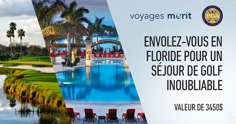 Concours Gagnez un voyage pour 2  en Floride pour un séjour au PGA National Resort and Spa !