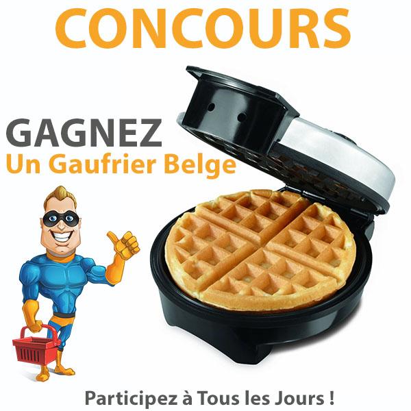 CONCOURS EXCLUSIF - Concours Gagnez un Gaufrier Belge