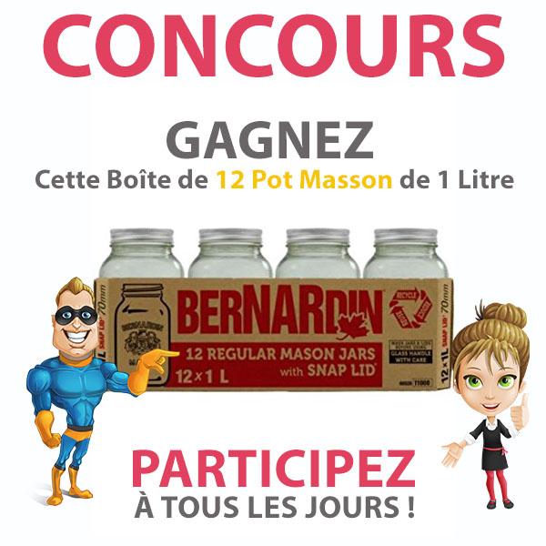 CONCOURS EXCLUSIF - Concours GAGNEZ Cette Boîte de 12 Pot Masson de 1 Litre