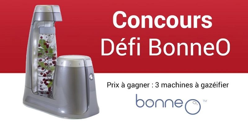 Concours Gagnez l'une des 3 machines à gazéifier BonneO!