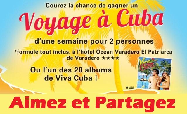 Concours VOYAGE À CUBA!