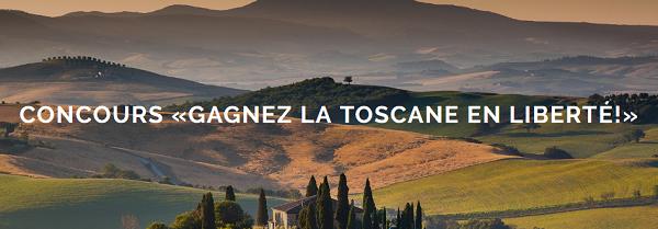Concours Gagnez un voyage en Toscane ou Le Sud-Ouest américain!