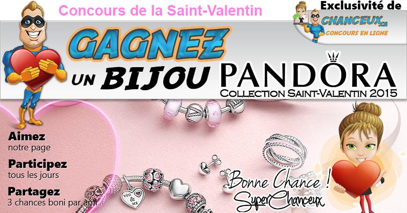 CONCOURS EXCLUSIF - Concours Gagnez un Bijou Pandora Saint-Valentin