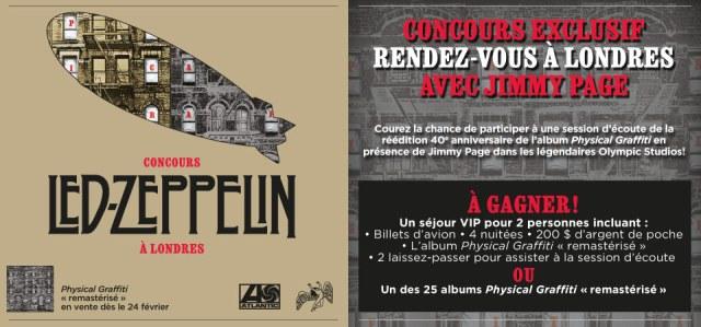 Concours Led Zeppelin à Londres!