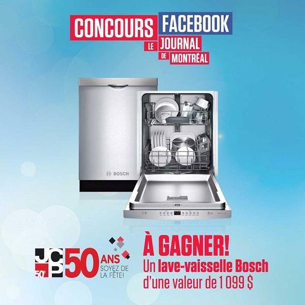 Concours Gagnez un lave-vaisselle Bosch d'une valeur de 1 099$!