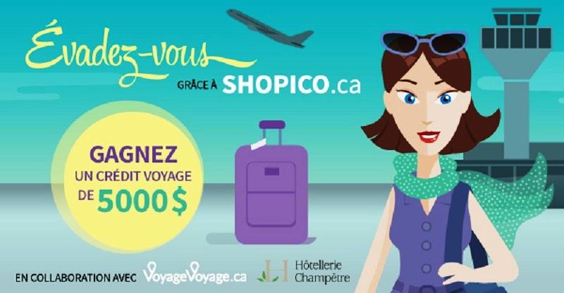 Concours Évadez-vous grâce à SHOPICO.ca!
