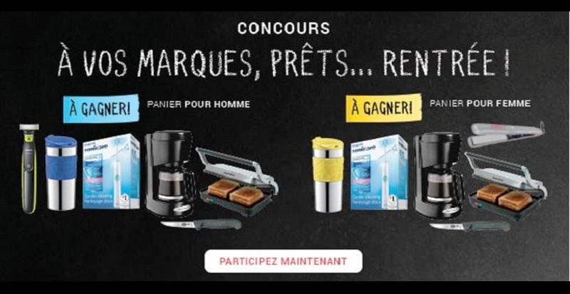 Concours Centre du rasoir À vos Marques, Prêts, Rentrée!