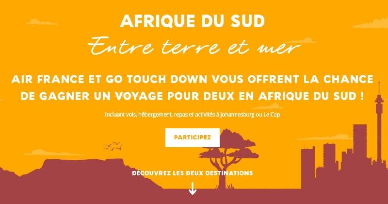 Concours GAGNEZ UN VOYAGE POUR DEUX EN AFRIQUE DU SUD!