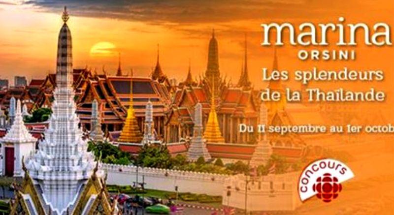 Concours Gagnez un voyage en Thaïlande et Chine 14 jours pour deux personnes!