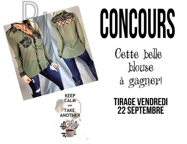 Concours Gagnez Cette superbe blouse + une affiche de votre choix!