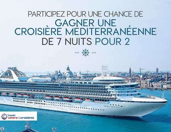 Concours Gagnez une croisière méditerranéenne pour 2 pour 7 nuits!