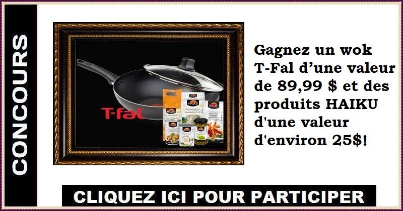 Concours Gagnez un wok T-Fal et des produits HAIKU !