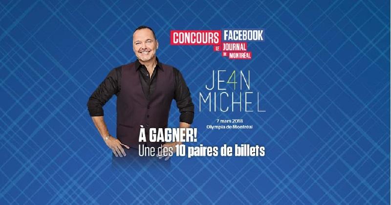 Concours Gagnez l'une des 10 paires de billets pour JEAN-MICHEL ANCTIL!