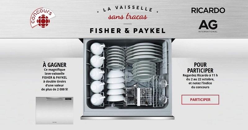 concours gagnez un lave vaisselle fisher paykel double tiroirs d une valeur de plus de 2 000. Black Bedroom Furniture Sets. Home Design Ideas