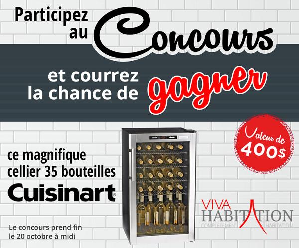 Concours Gagnez un magnifique cellier Cuisinart d'une valeur de 400$!