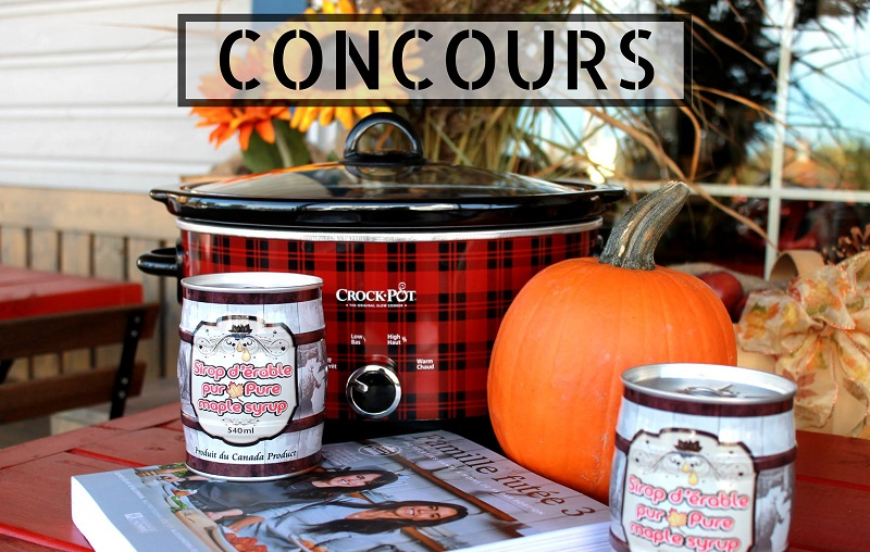 Concours Gagnez Une mijoteuse Crock Pot carreauté, du sirop d'érable et un livre de recette!