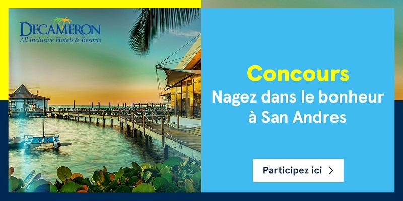 Concours Nagez dans le bonheur à San Andres!