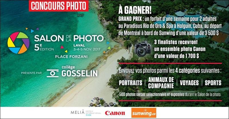 Concours Gagnez un voyage pour 2 au Paradisus Rio de Oro & Spa à Holguin, Cuba  ou l'un des 3 ensembles photo Canon!