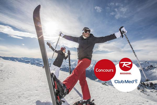 Concours Gagnez un séjour tout compris pour 2 personnes dans l'un des villages Club Med des Alpes et 2 paires de ski Rossignol!