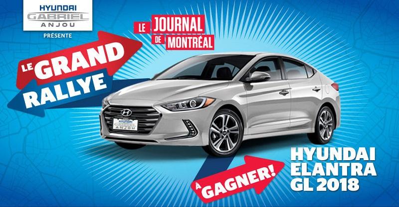 Concours Gagnez une voiture Hyundai Elantra GL 2018!