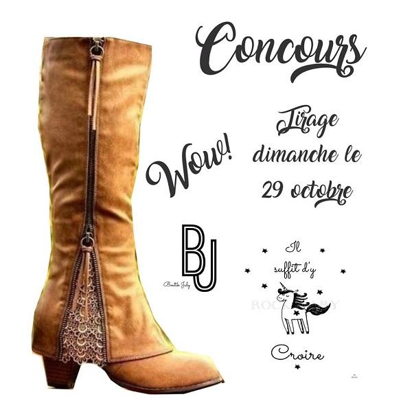 Concours Gagnez une belle paire de bottes offertes par Boutik July!