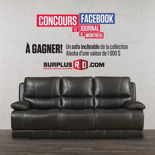 Concours Gagnez un sofa inclinable de la collection Alaska d'une valeur de 1000$!