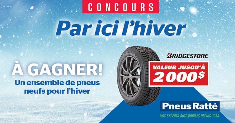 Concours Gagnez un ensemble de 4 pneus d'hiver Bridgestone!