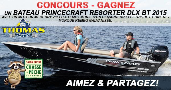 Concours Gagnez Un bateau Princecraft Resorter DLX BT 2015 !