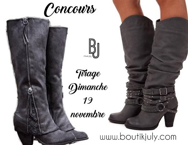 Concours Une paire de bottes de votre choix à gagner!