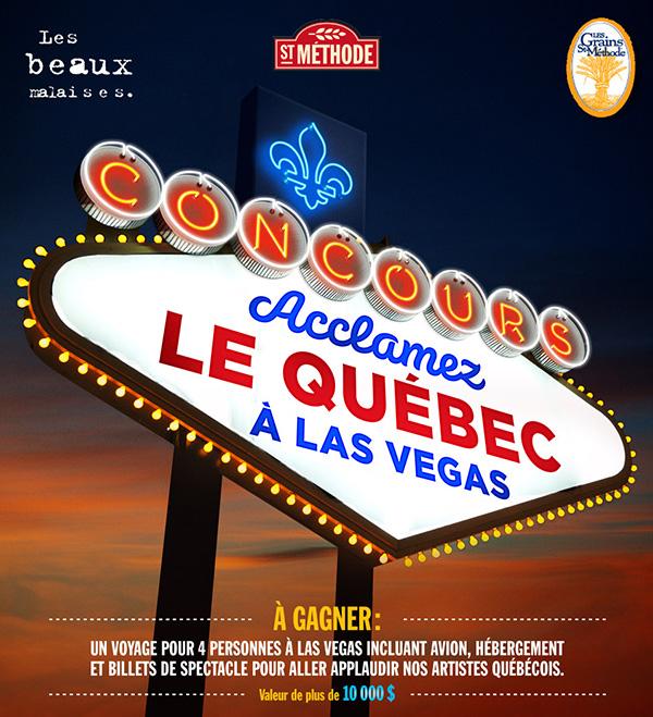 Concours Gagnez un Voyage pour 4 à Las Vegas pour applaudir nos Artistes Québecois
