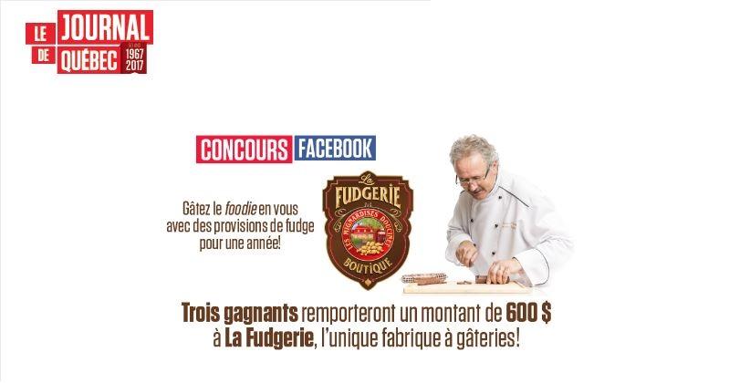 Concours Gagnez vos provisions de Fudge pour toute une année!