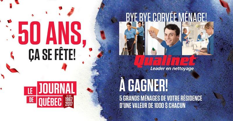 Concours 50 ans du Journal de Québec avec Qualinet!
