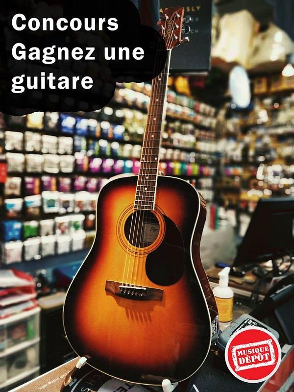 Concours Gagnez une guitare acoustique, gracieuseté de Musique Dépôt!