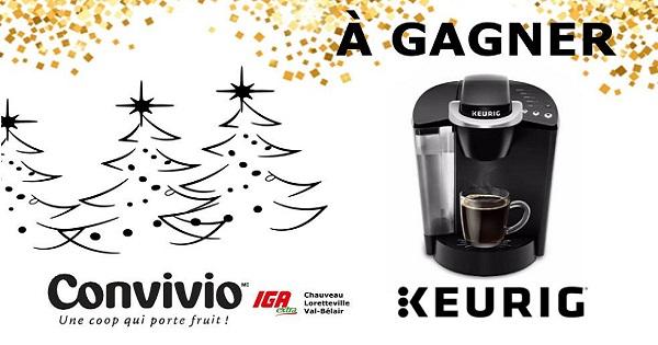 Concours Gagnez un ensemble cafetière Keurig!