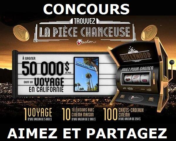 Concours VACHON 50 000$ EN PRIX