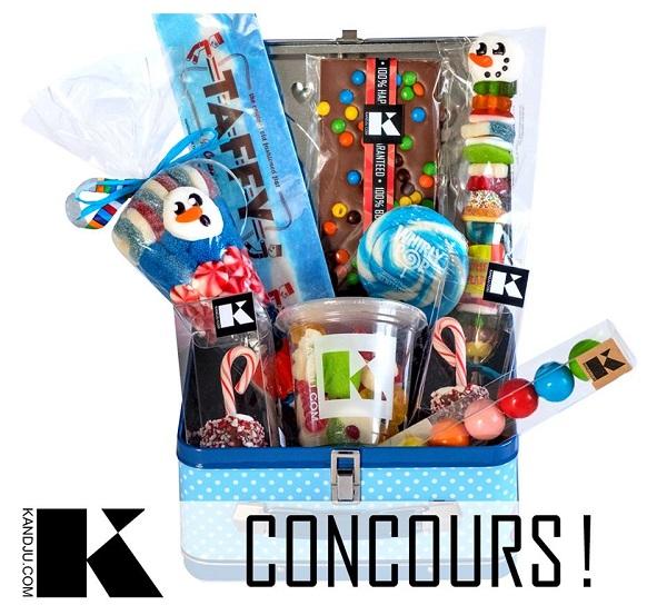 Concours Gagnez un panier cadeau hivernal rempli de bonbons KandJu!