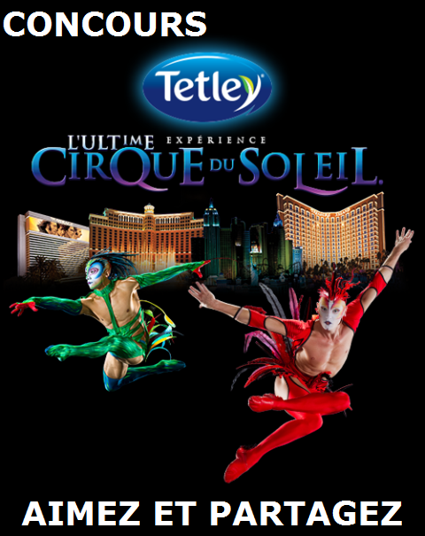 Concours gagnez l'un des 3 voyages Cirque du Soleil à Las Vegas