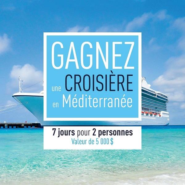 Concours GAGNEZ une croisière en Méditerranée!