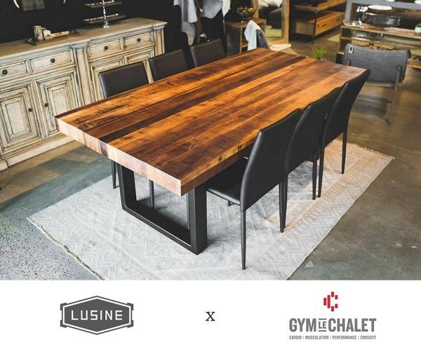 Concours gagnez une superbe table de cuisine fabriqu par l 39 usine et un abonnement dans un for Centre de table de cuisine
