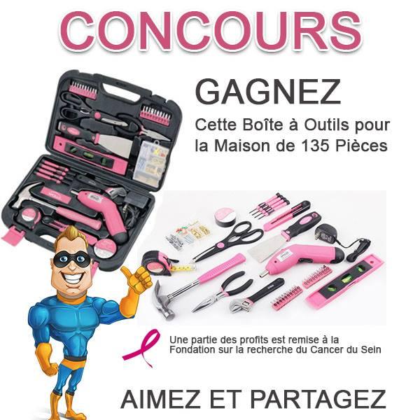 CONCOURS EXCLUSIF - Concours Gagnez une Boîte à Outils ROSE