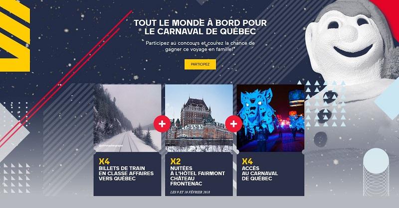 Concours TOUT LE MONDE À BORD POUR LE CARNAVAL DE QUÉBEC!