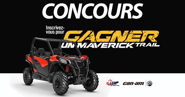 Concours CONCOURS GAGNEZ Un Maverick Trail!
