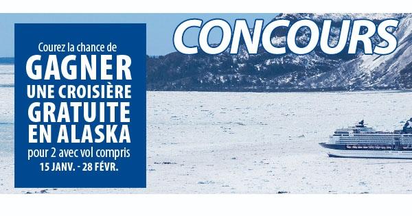 Concours GAGNEZ Une Croisière de sept nuits en Alaska!