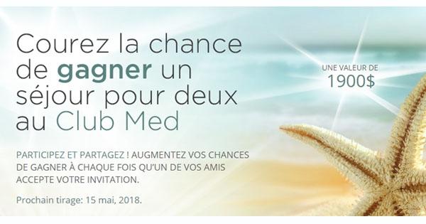 Concours GAGNEZ Un Séjour pour Deux au Club Med!