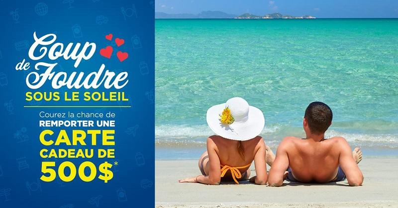 Concours Gagnez une carte-cadeau Voyages Transat d'une valeur de 500$!