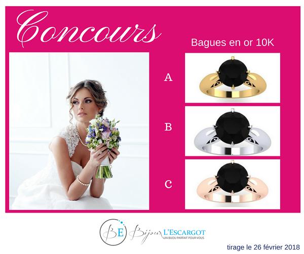 Concours Gagnez l'une de ces bagues en or 10K offertes par Bijoux Escargot!