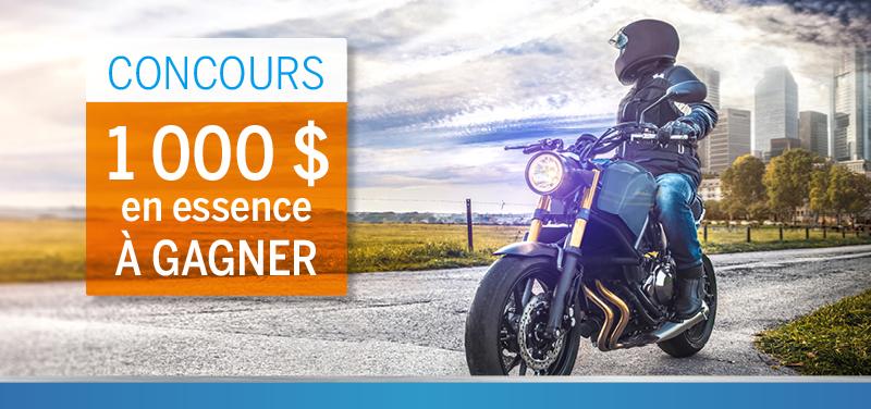 Concours 1000$ en essence à gagner!
