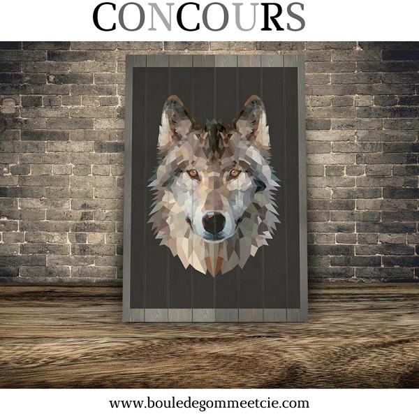 Concours gagnez ce panneau mural wolf en bois de c dre for Prix du cedre rouge