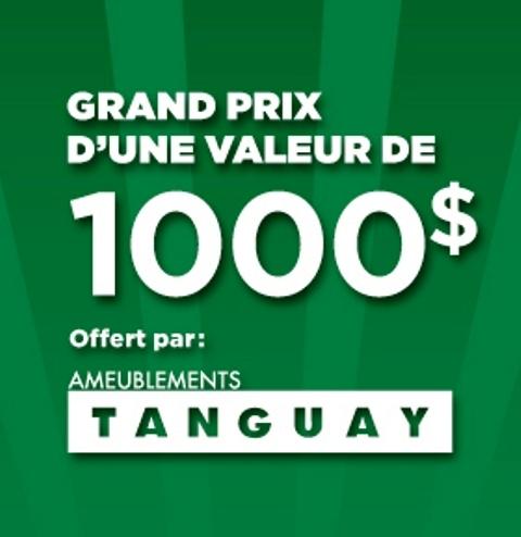 Concours Gagnez un grand prix d'une valeur de 1000$ offert par Ameublements Tanguay!